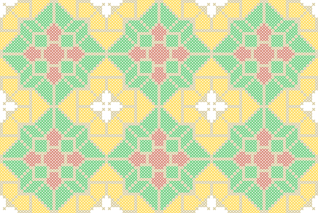 Belgian Tile Cross Stitch Pattern