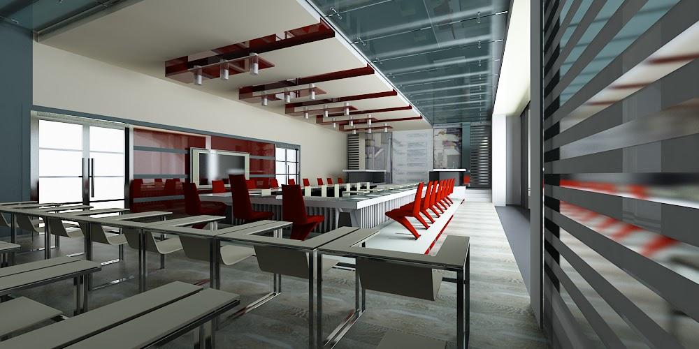 Дизайн зала в стиле хай тек