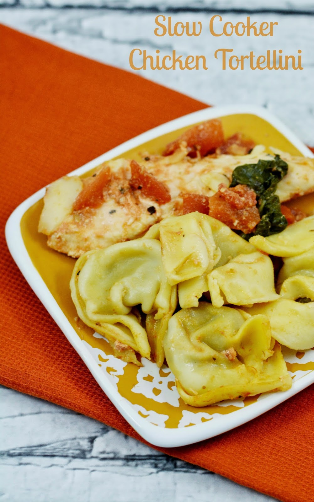 Slow cooker chicken and tortellini. #crockpot #freezermeal