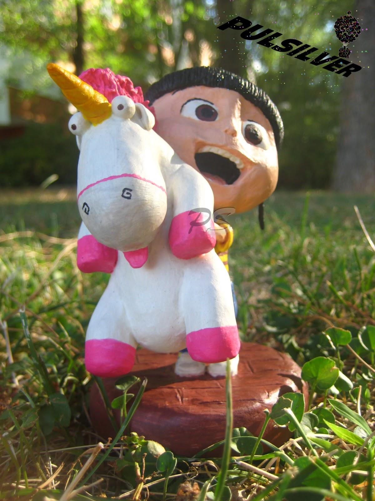 Amigurumi Unicornio Mi Villano Favorito : Pulsilver: Agnes y su Unicornio - Gru, mi villano favorito