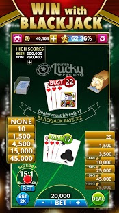 Screenshots of the BlackJack 21 FREE + Slots! for Android tablet, phone.