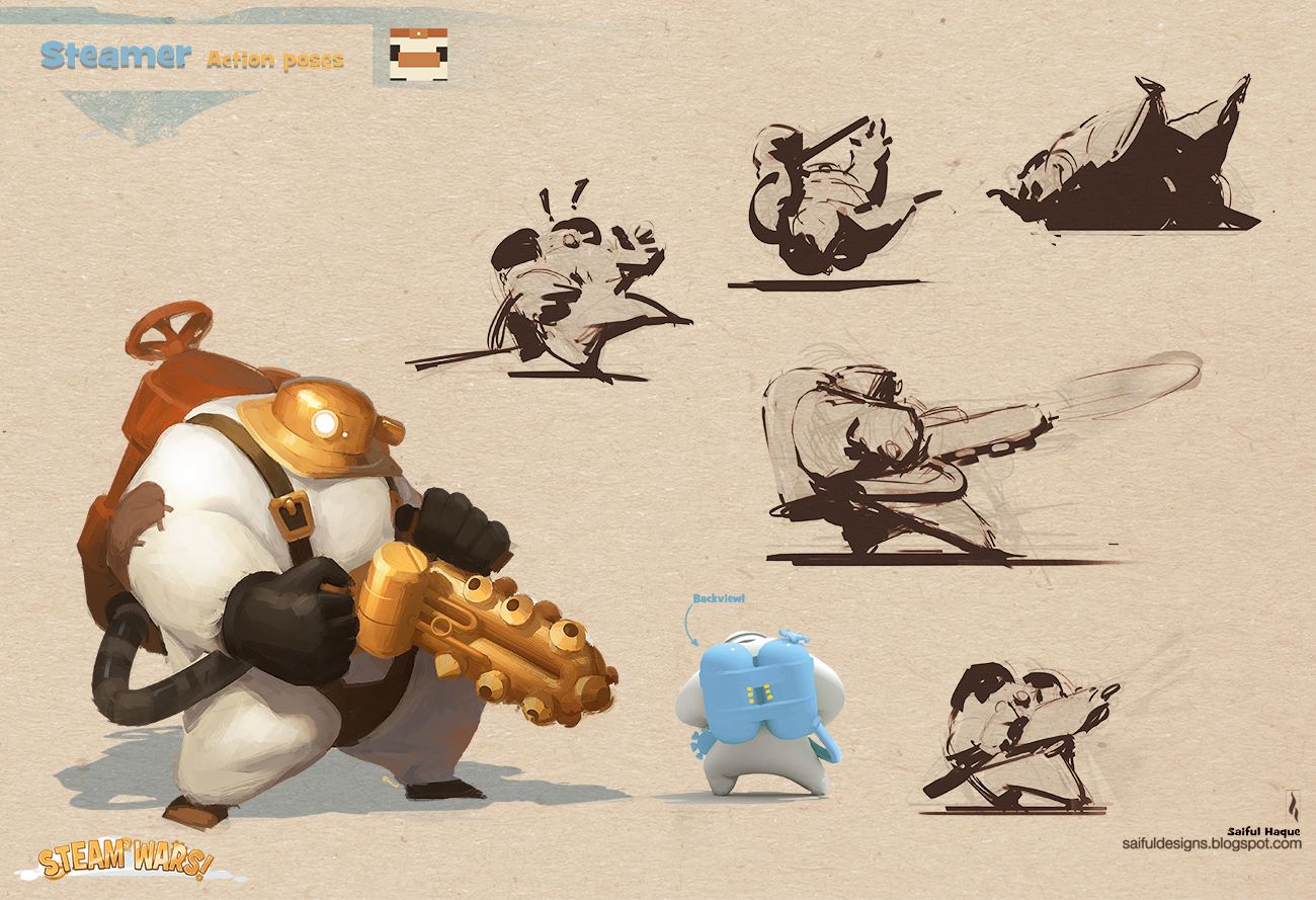 Game Character Design Website : Saiful haque january