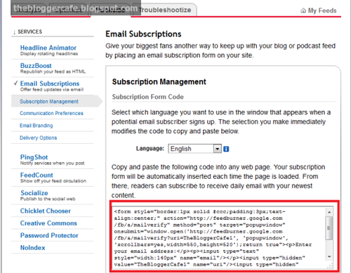 Enable Email Subscriptions