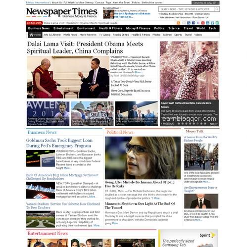 Blog Newspaper Template Doritrcatodos