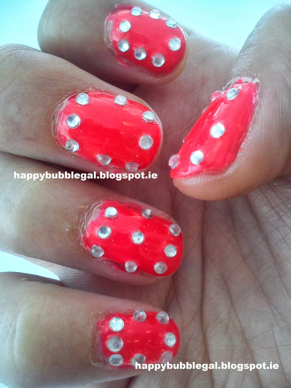Happy Bubble Gal: NOTD: Bling Neon - Models Own Pink Punch