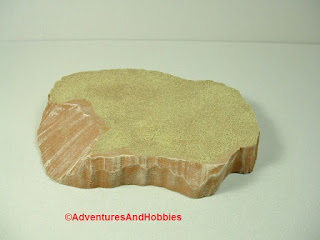 Desert terrain pieces for miniature war games - close up view 2.