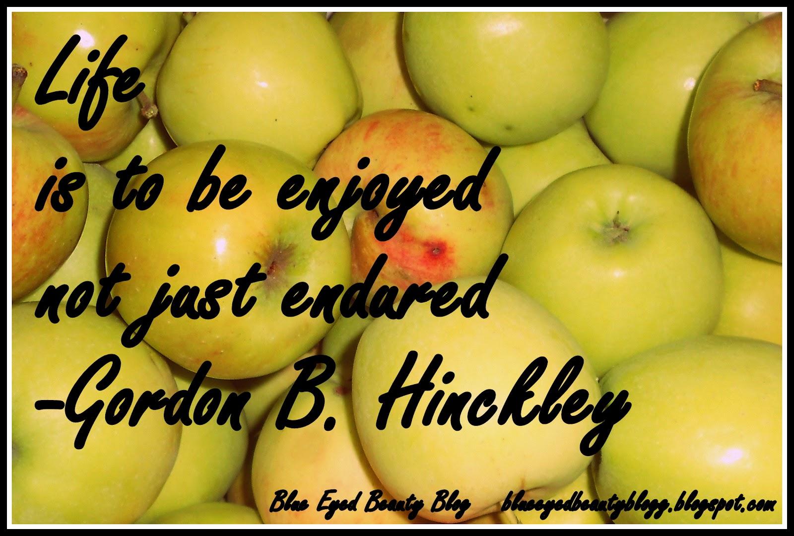Gordon B Hinckley Quotes Blue Eyed Beauty Blog Quote  Gordon Bhinckley
