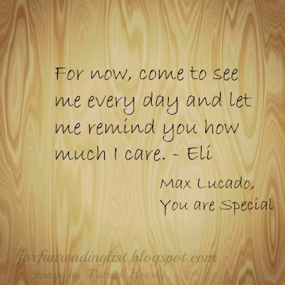 You are Special by Max Lucado  A Children's Corner feature flashback.