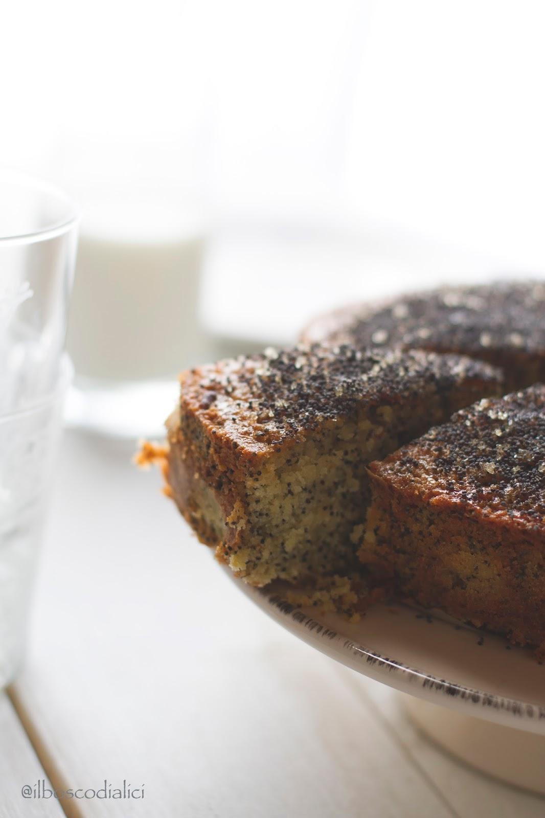 double lemon drizzle cake con semi di papavero