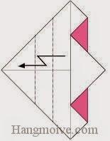Bước 6: Gấp gấp khúc góc giấy còn lại.