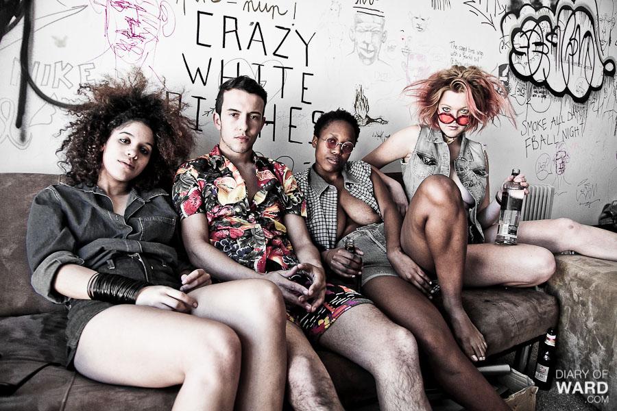 Photos Paul Ward Styling Fani Segerman And Naama Tsalik Models Kyla Phil Ora Mashazi Jana Terblanche Matt Hichens All Clothing Crazy White Bitches