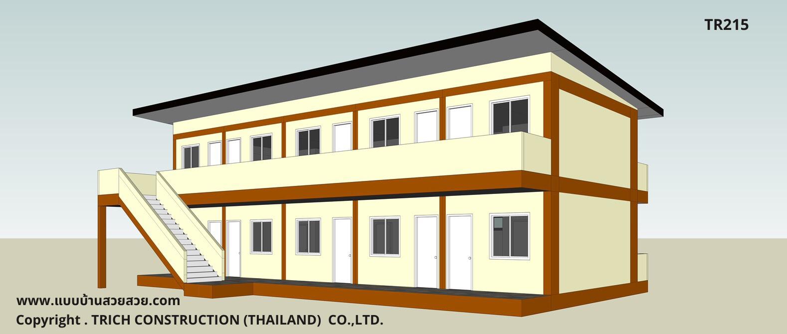 แบบบ้านสวย บ้าน2 ชั้น  TR215