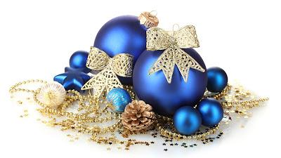 Postales navideñas con esferas