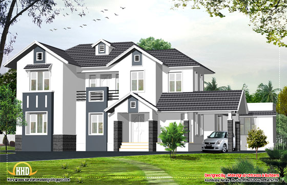 English style home - 2424 Sq. Ft. (225 Sq.M.) (269 Square Yards) - April 2012