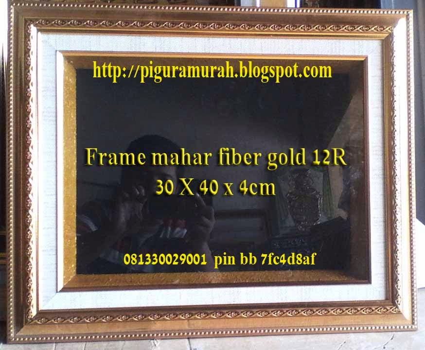 Frame pigora mahar pernikahan fiber gold 12 R