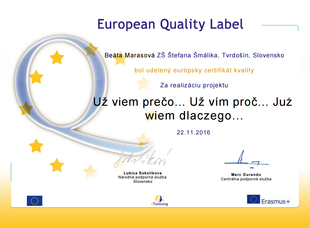 European Quality Label - SK