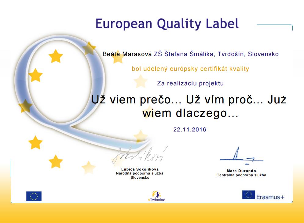 European Quality Label - SK