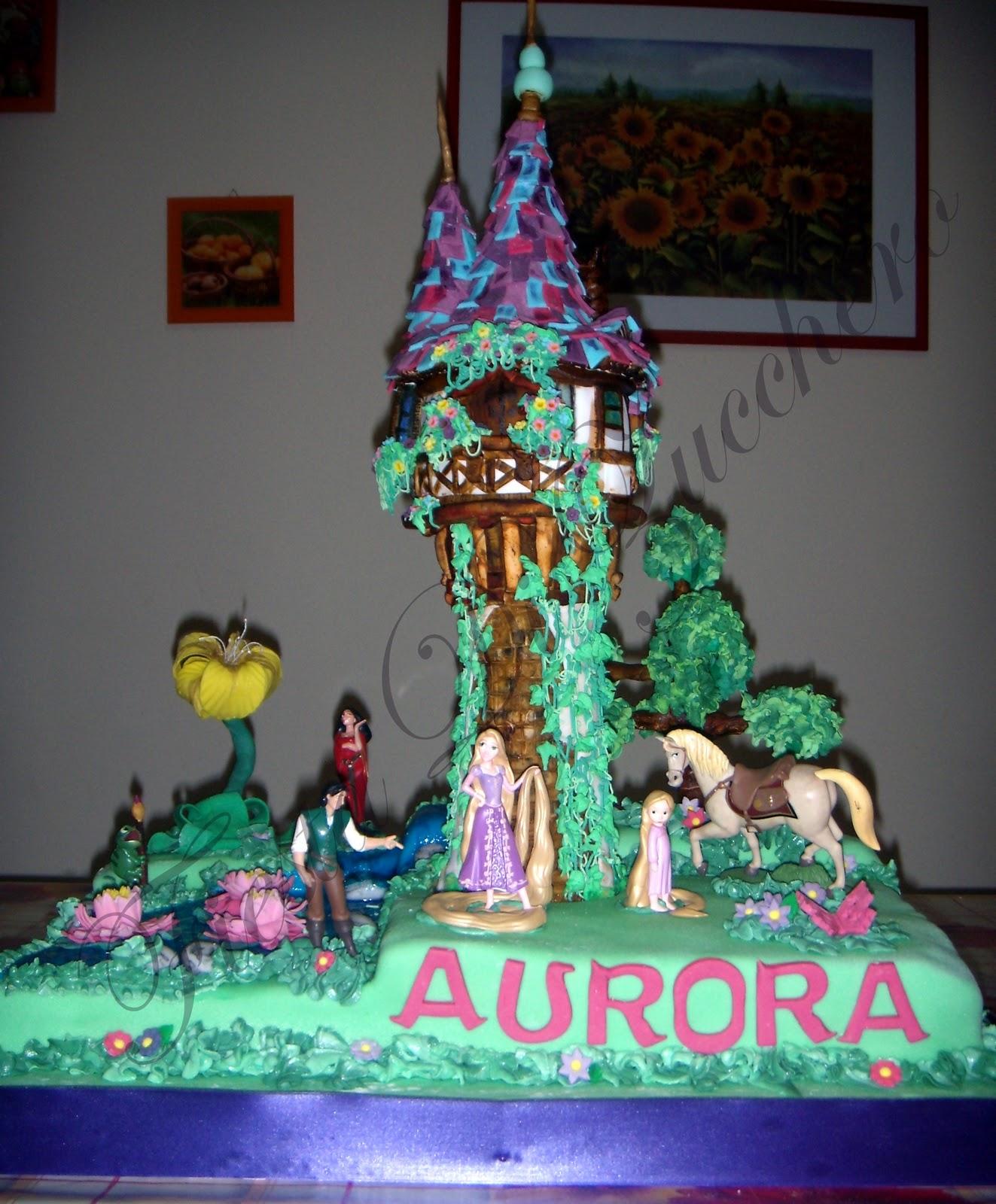 Fiesta di zucchero torta a tema rapunzel