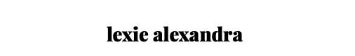 lexie alexandra