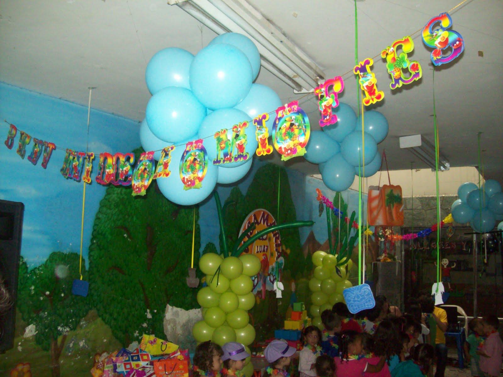 Decoracion Hawaiana En Globos ~ FIESTAS HAWAIANAS , LUAU  Fiestas tematicas infantiles Medellin