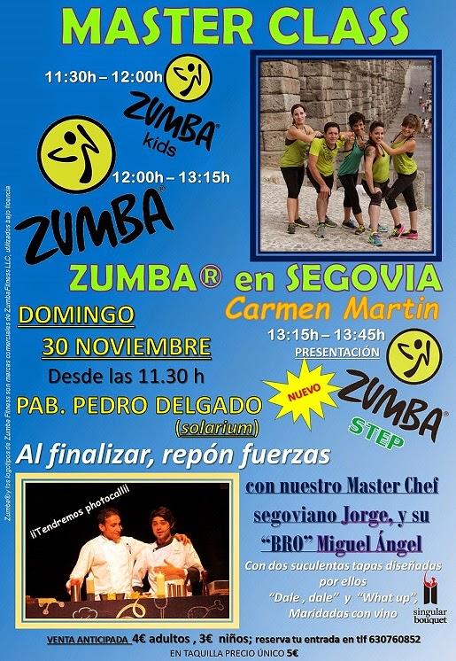 PROXIMA MASTER CLASS ZUMBA® , ZUMBA® STEP Y ZUMBA® KIDS, 30 NOVIEMBRE con ZUMBA® en Segovia