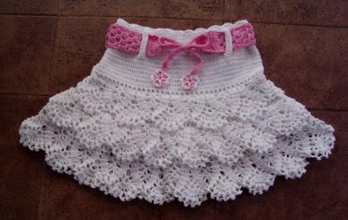 TRICO y CROCHET-madona-mía: Falda de niña para expertas en crochet