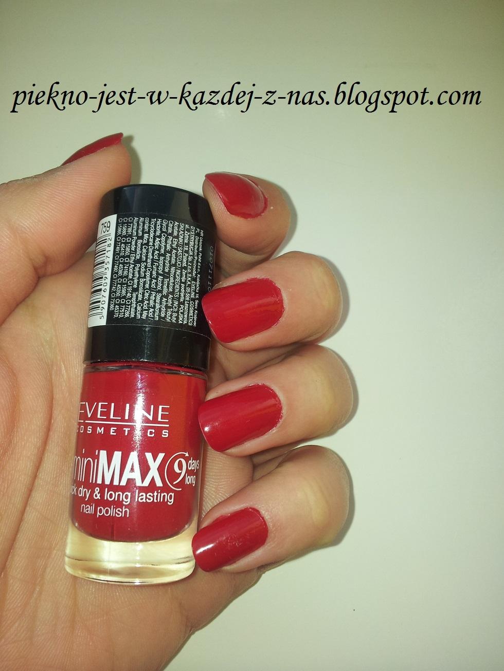 Eveline Cosmetics, MiniMax Quick Dry & Long Lasting nr 759