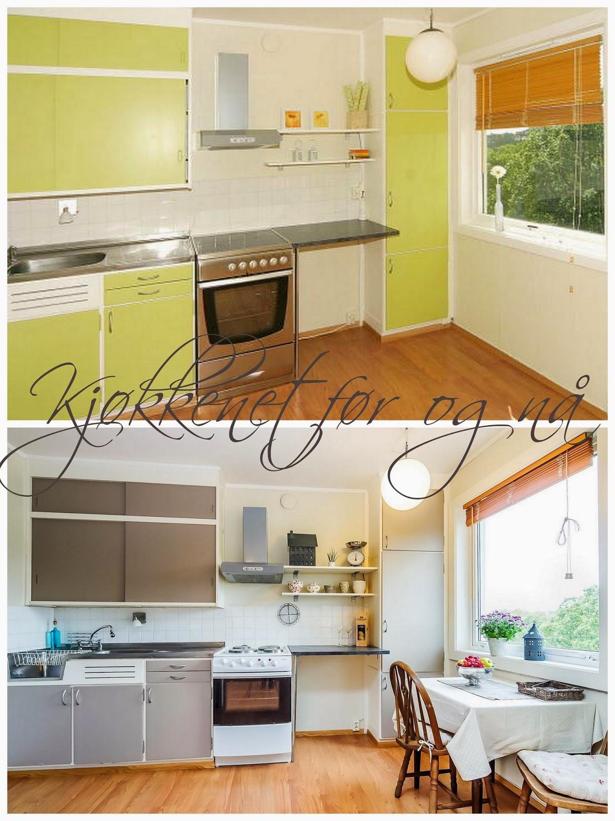 Kjøkkenet - før og nå
