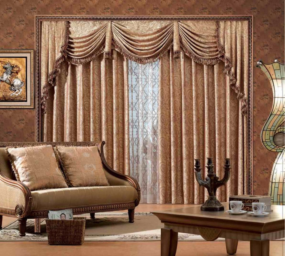 New home designs latest modern homes curtains designs ideas for Curtain design for living room