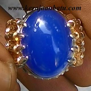 BLUE CHALCEDONY BIRU TINTA KODE KB176