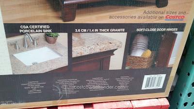 Mission Hills Manchester Wood Vanity – Brazilian Giallo Veneziano granite countertop