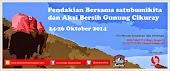 Pendakian Bersama dan Aksi Bersih Gunung Cikuray, Garut, 24 - 26 Oktober 2014