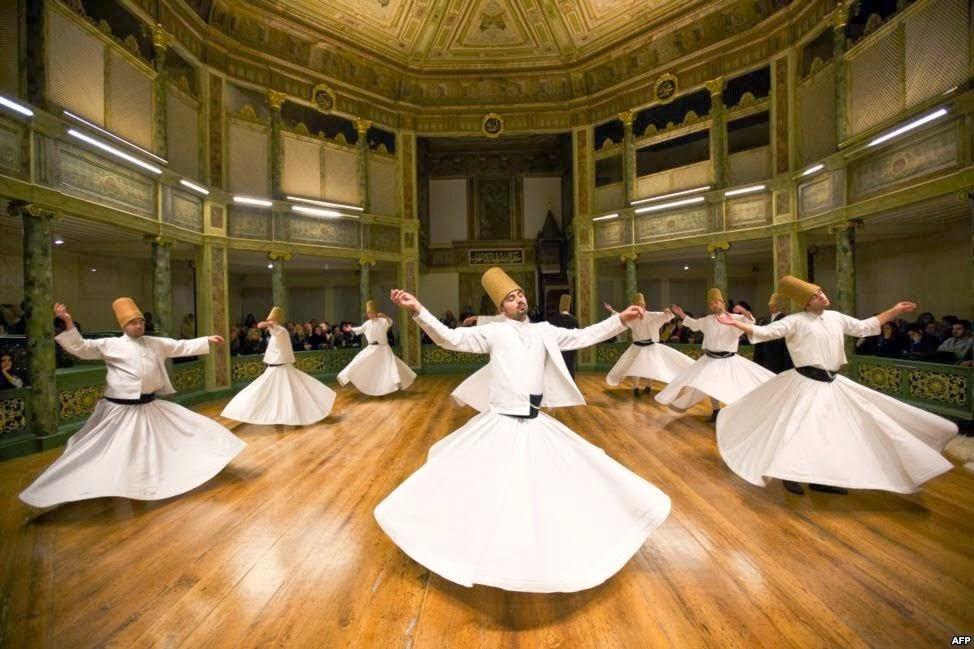 Negara dengan tari tradisional yang populer di dunia: Turki - tari sufi