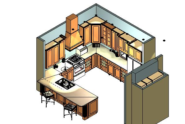 foundation dezin  u0026 decor     kitchen 3d view