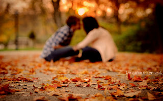 Mood Love Couple Boy And Girl Autumn Leaf Park Photo HD Wallpaper