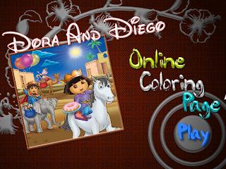 Juego Dora colorear