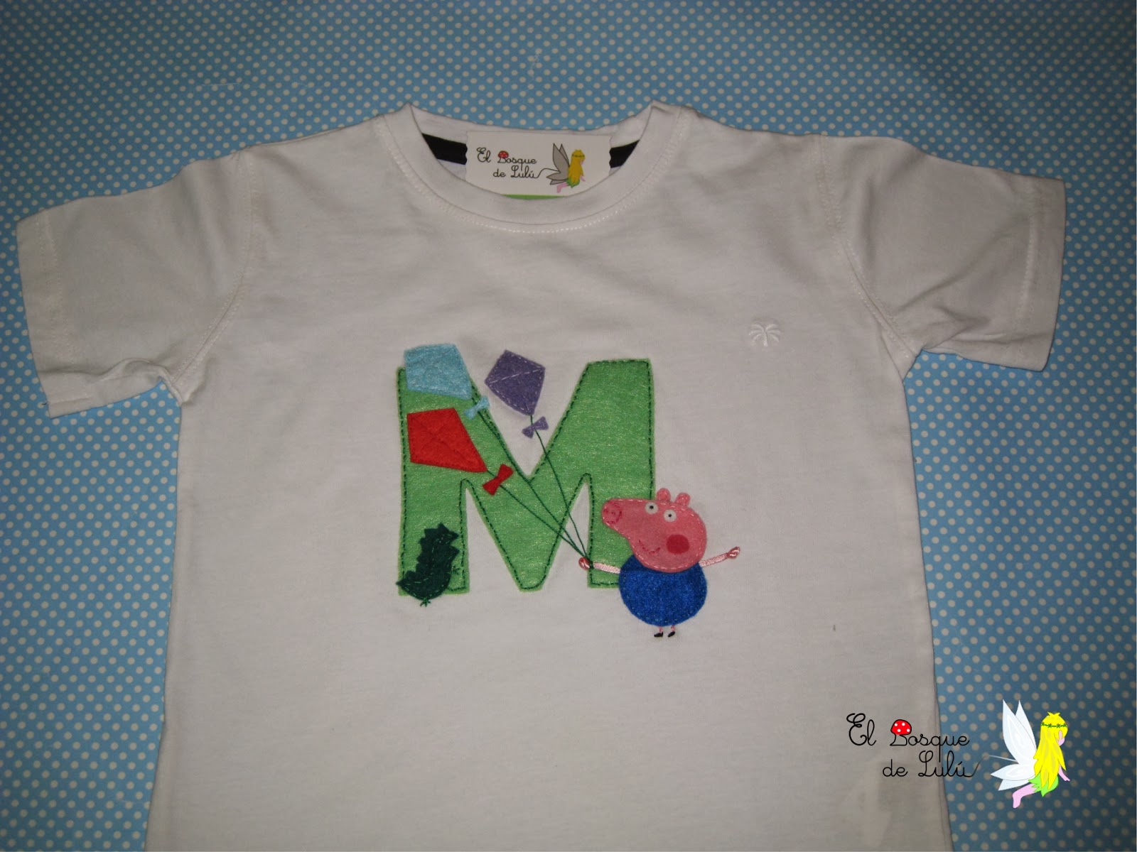 camiseta-personalizada-decorada-fieltro-George-pig-Marcos