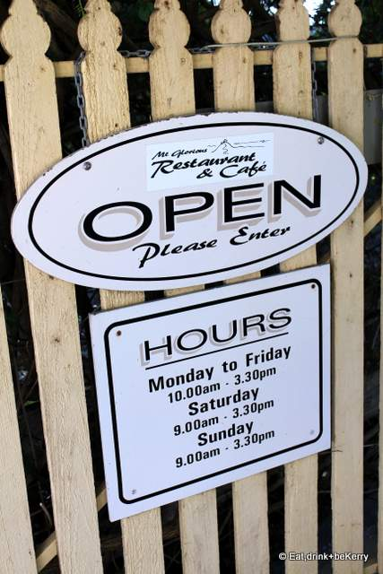 Mt Glorious Restaurant Cafe Menu