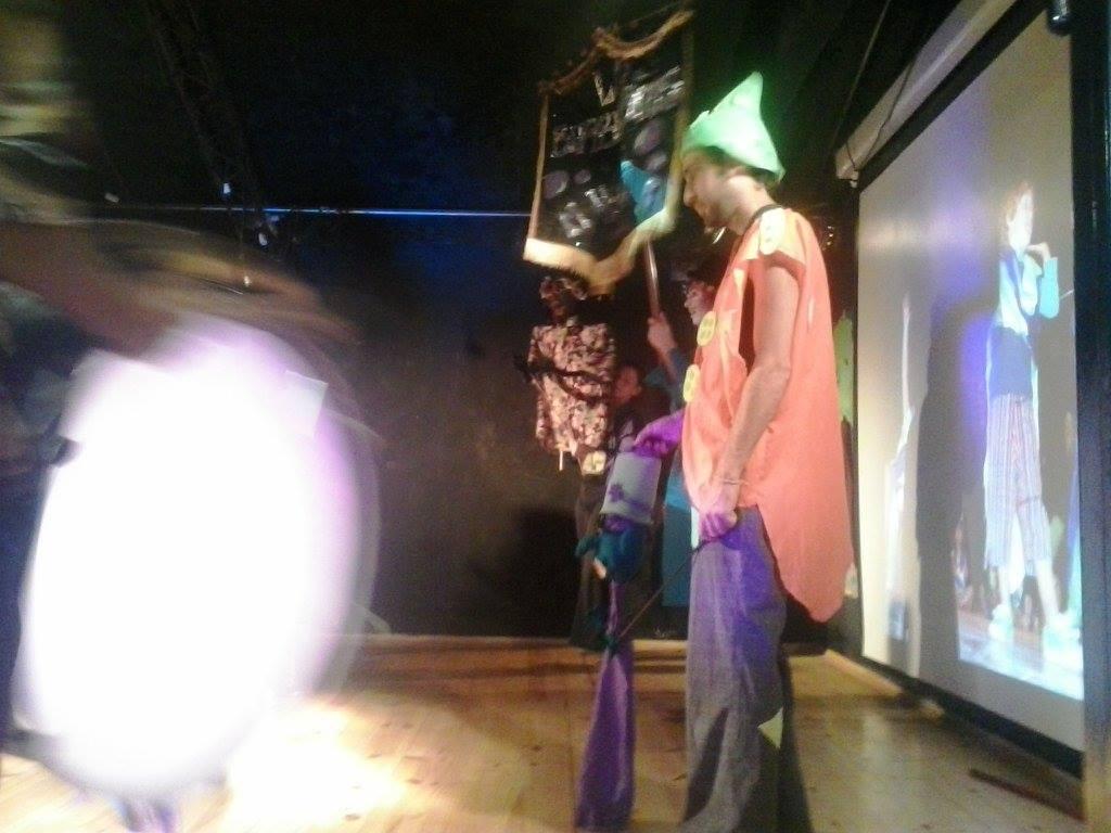 El Malogro junto a la murga de niños LOS BURBUJERITOS