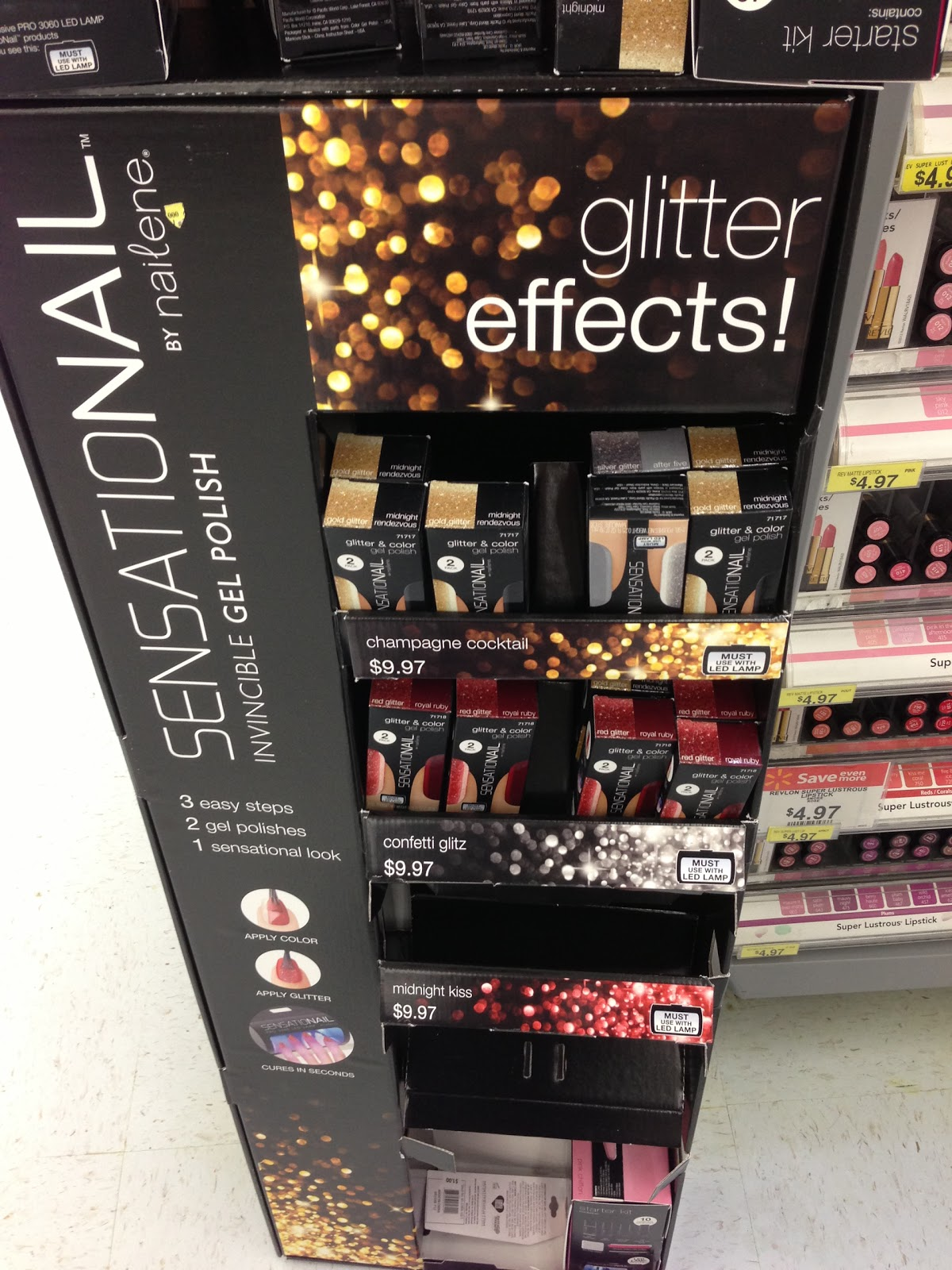 Spotted At Walmart Sensationail Gel Glitter Effects Polishes