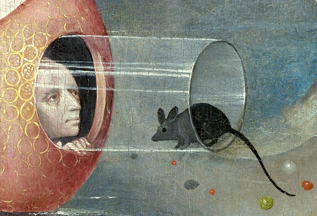 Con que me sorprendes hoy??? 1024px-Bosch%252C_Hieronymus_-_The_Garden_of_Earthly_Delights%252C_central_panel_-_Detail_man_with_mouse_%2528lower_left%2529