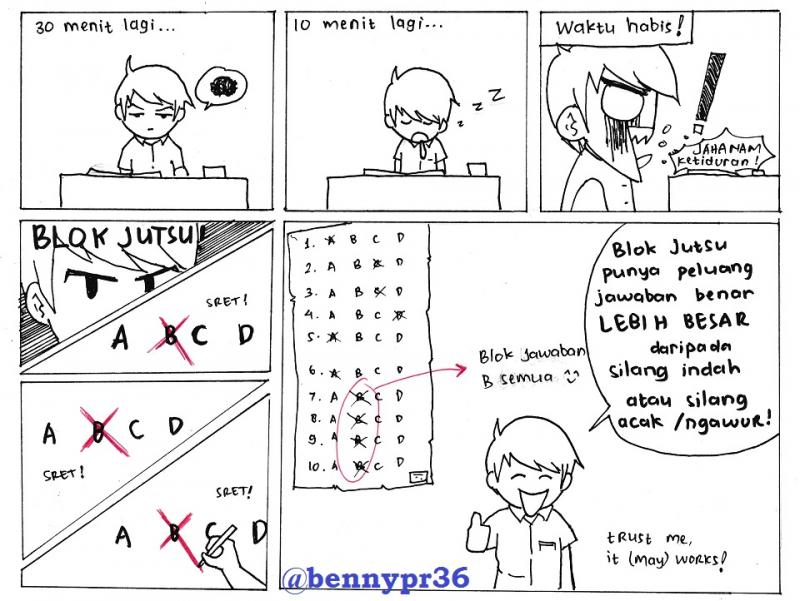 Komik Tips Ujian