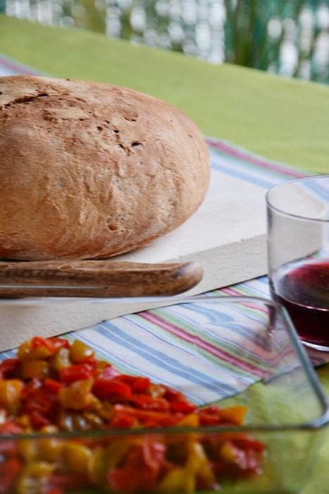 pane di semola di grano duro con esuberi di pasta madre