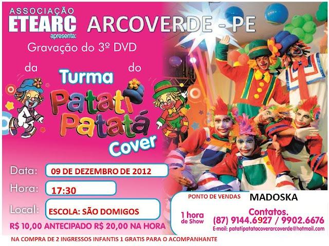 ASSOCIAÇÃO ETEARC REALIZA GRAVAÇÃO DE DVD EM ARCOVERDE