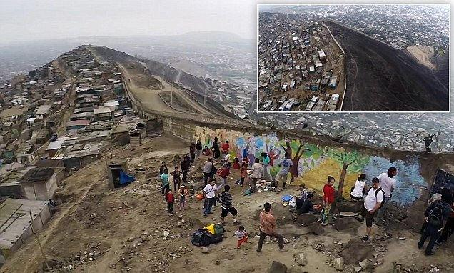 Controversial 'Wall of Shame' in Peru Separates the Rich from the Poor