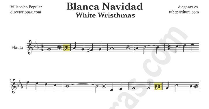 Tubepartitura blanca navidad partitura para flauta - Blanca navidad partitura ...