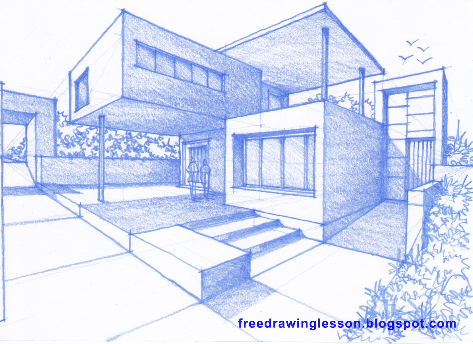 100 how to draw a house how to draw a simple house for Draw your house