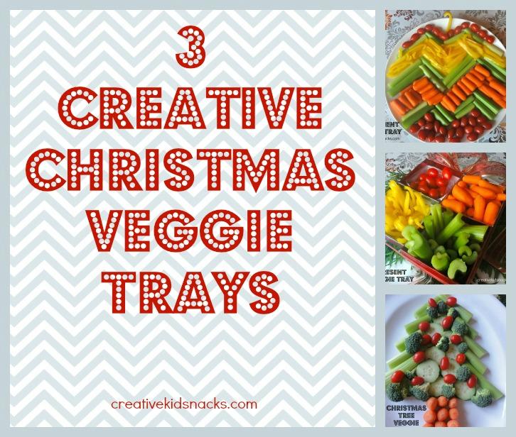 3 creative christmas veggie trays