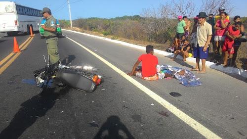 Jovem morre na BR 343 entrada de Luís Correia