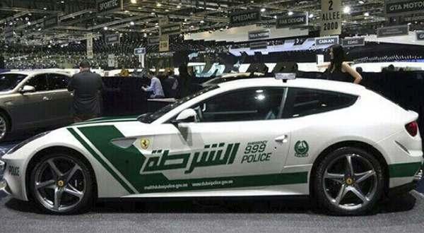 after lamborghini dubai police wear ferrari ff - Lamborghini Egoista Police